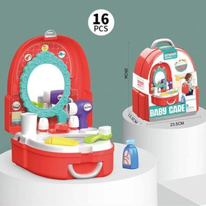 Children Play house doctor toy Simulation medical box Children playhouse toy Backpack design Easy to carry