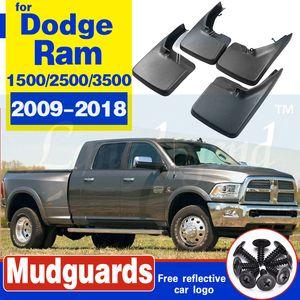 For Dodge Ram 1500 2500 3500 2009-2018 4PCS Brand New Splash Guar Mud Guards Mud Flaps Fender Car Styling Auto Accessories