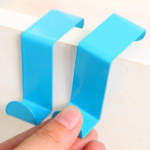 2pcs / Set Vêtements de porte en acier inoxydable Cabinet coloré tiroir Hot Vente Porte-serviettes Accueil Organisateur Accessoires