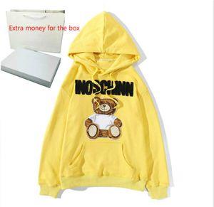Erkek Hoodie Triko Casual Sweatershirt Loong Kol Ayı Baskılı Erkekler Kadınlar Çift Kazak Mektupları Moda Stil Boyut M-2XL yazdır