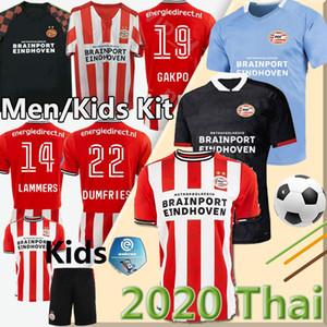 MEN + KIDS 20 21 PSV ايندهوفن لكرة القدم جيرسي 2020 2021 قميص كرة القدم مالين camisa دي futebol IHATTAREN DUMFRIES GAKPO BRUMA لاميرس منزل