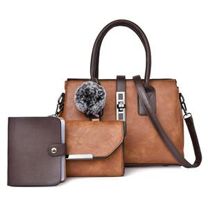 Bolsa para mujer 2020 Four Seasons New Retro diverso tamaño Bolsas de tres piezas del todo-fósforo del bolso de hombro del bolso