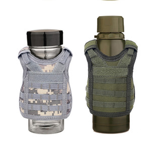 Beverage Koozie Vest Military Molle Mini Beer Cover Vest Cooler Sleeve Adjustable Shoulder Straps Beer Cover Bar Party Decoration ZX BH1990