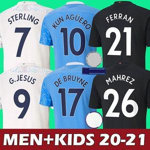 2020 2021 Manchester city soccer jersey top thailand quality 20 21 manchester city camiseta de fútbol KUN AGÜERO STERLING DE BRUYNE MAHREZ JESUS SILVA