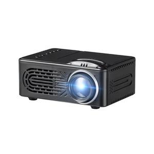 مصغرة البطارية العارض، شاشة LCD LED المحمولة العارض، مسرح منزلي سينما USB الأطفال فيديو ميديا بلاير -RD-814 الأسود