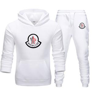 Moda hombre corriendo diseñador MONCL tracksuits del juego de la ropa de deportes de los hombres con capucha + pantalones casuales de alta calidad chaqueta de las mujeres de dos piezas 20ss s-3xl
