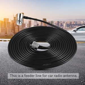 Kenwood / ICOM / Alinco Araba Radyo Anteni için 5m / 16ft Besleyici Kablo M Fiş