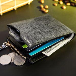 Baborry New Scrub Pu Mens Wallet Carteira Noir Bleu Brun Portable Driver licence Bit ID carte de crédit Porte-monnaie Porte-monnaie Portefeuilles de marque