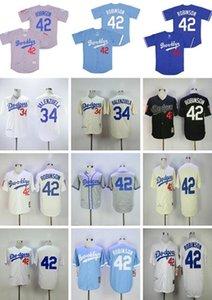 الجملة 2020 الرجال 42 جاكي روبنسون جيرسي 34 فرناندو فالنزويلا ريترو 1955 1963 خمر البيسبول الفانيلة