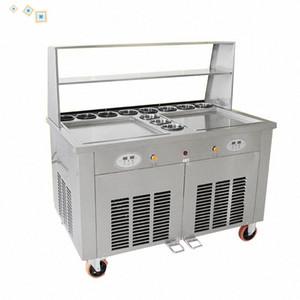 Один горшка жареного мороженое машина 220 коммерческого Fried мороженого ролл машины йогурт мороженого лоток машин 37qb #