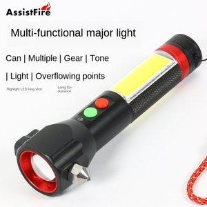أدى جديدة متعددة الوظائف T6 مضيا USB شحن السيارة في حالات الطوارئ أداة الهروب مصباح يدوي ZLZoO