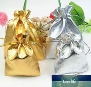 Moda placcato oro garza raso gioielli Borse dono di nozze Gift Bag Sacchetti di Natale Bag 4Size 5x7cm 9x12cm 7X9cm 13x18cm