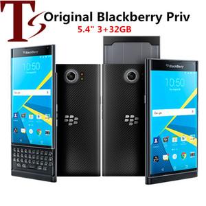 Recuperado Original Blackberry Priv 5,4 polegadas Hexa núcleo 3GB RAM 32GB ROM 18MP Desbloqueado 4G LTE entregas