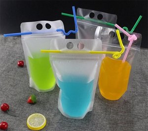 For Transparent And Holes Plastic Beverage Drink 4 With Pouch Styles Handle Milk Self-sealed Juice 500ml Bag Packaging Coffee, For wphome b