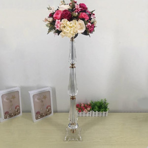 "2020 New Flower Vases 78 CM  30.7"" Tall Acrylic Flower Stand Wedding Centerpiece Event Road Lead Rack For Home Decoration"