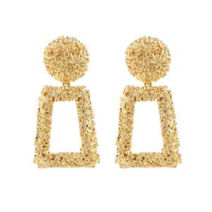 Orecchini moda 2020 Big geometrica orecchini rotondi per le donne Hanging ciondola gli orecchini di goccia Earing moderna femminile gioielli