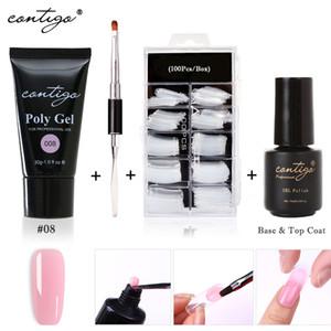 luxury- Горячая 30G Акрил Гель New Nail Art Poligel ногтей 10 цветов Builder Poly Gel Semipermanente UV Polygel Для ногтей Дизайн Подножие Вверх