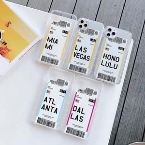 caja del teléfono divertida de entradas de aire para el iphone 11 Pro XS MAX 8 más suave silicón de la manera transparente de TPU la contraportada para el iPhone xr