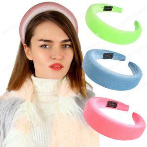 Fest Farbe Frauen Haarbänder Mode Sponge Hair Frauen-Haar-Kopf-Band süße Mädchen Haar-Stirnband-Dame-Haar-Band DHA750