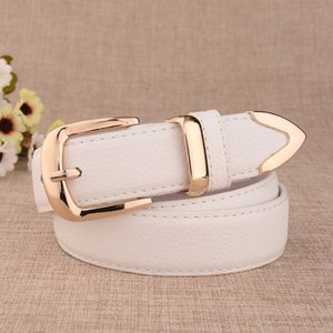 All-match Fashion Womens Casual Imitation Leather Waistband Womens New Paint Leather Belt Alloy Buckle Belt Factory Direct Sales