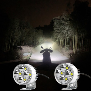 Universal dc 12v-90v Car Motorcycle External led flash light Day running Auxiliary fog lamp 4WD ATV Tractor SUV Work spot lights