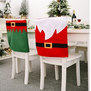 Spandex Printed Chair Cover Belt Dining Chair Slipcover Seat Protector Stretch Removable Restaurant Covers Christmas Gifs