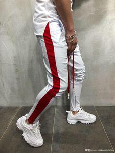 Zipper Designer Pants Sweatpant Sports Wear Mens Hiphop Dancing Street Jogger Pants Pantlones Fashion Pencil