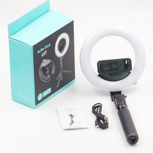 LED Selfie Ring Light 5 inch with Tripods Retractable folding desktop tripod for Makeup Live Stream L07