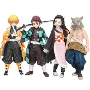 16cm Anime Dämonentöter Kimetsu Keine Yaiba Figur Spielzeug Action-Figuren Tanjirou Nezuko Inosuke PVC-Sammlung Modell Kinder Spielzeug Geschenke