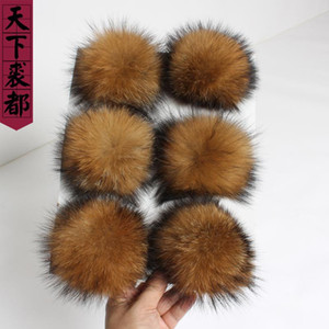 Luxury Fashion 100% Natural Real Raccoon Fur Ball for Fur Hat Winter knitting Hats for Shoes Cap Accessories Balls