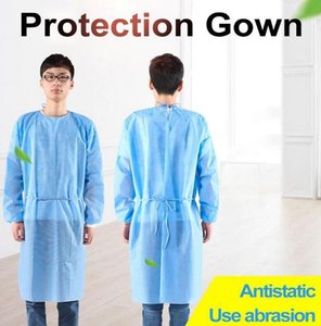 12 SAAT GEMİ Koruma Gown 2 Renkler Unisex Tek Koruyucu Giyim toz geçirmez Elbise Mutfak Önlüğü fy4001 Dokumasız