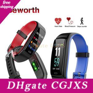 Pressão Y9 inteligente Pulseira Heart Rate Bluetooth Banda Sangue Telefone Monitor de Pulseira de Fitness Rastreador pedômetro para iOS Android