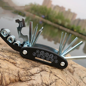 15 in 1 Multifunctional Portable Bicycle Multi Repairing Tool Kit Screwdriver Hexagon Wrench Combination Repair Bike Tool Outdoor Gear K450G