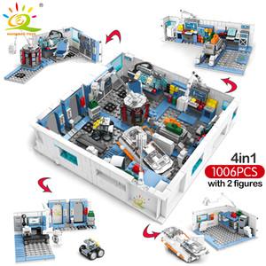 Astronot City Space Creator Huiqibao Blokları Bilimsel Tuğlalar Seti İçin Toprak dolaşıp 1006pcs Çocuklar Oyuncak İstasyonu Bina yxlBLg xhlove