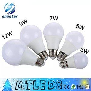 DHL E27 3W 5W 7W 9W 12W 220V 110V 리얼 와트 LED 전구 빛 SMD5730 빠른 열 방출 높은 밝은 Lampada LED 램프