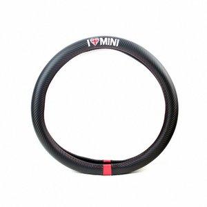 스티어링 휠 커버 자동차 스타일링 I LOVE MINI 탄소 섬유 가죽 PU를 들어 MINI COOPER R50 R52 R53 R55 R56 R57 R58 R59 R60 R61 R62 hWJI 번호