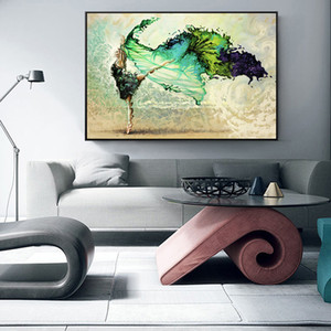 Abstract Dancer Girl Wall Art Pictures Painting Wall Art Famous Artist Oil Painting on Canvas Posters for Living Room Home Decor