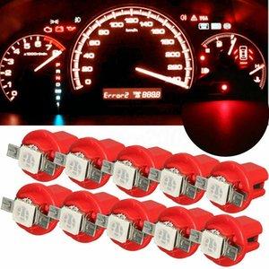 10pcs LED voiture jauge instrument vitesse Dash Ampoule Dashboard Lumière Wedge Intérieur Lampe B8.5D 509T B8.5 Led 1 T5 SMD lampe
