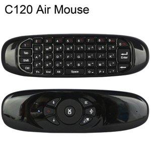 Akıllı Tv Box Mini Pc 20adet için C120 Fly Air Fare Şarj edilebilir 2 .4ghz Mini Kablosuz Klavye / Lot