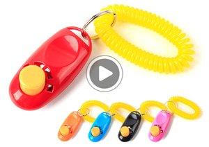 Pet Ferramenta Training Remote portátil cão de animal Clicker instrutor Sound Control Wrist Band Acessório Michael M21B