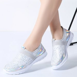 2020 Autumn Women Sneakers Shoes Women Breathable Mesh Shoes Ladies Slip On Flats