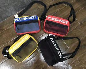 Brand New Places + Gesichter 3M Reflective Skateboards Tasche P + F Nachricht Taschen Lässige Männer und Frauen-Hip-Hop-Umhängetasche Mini-Handy-Pack