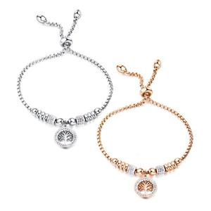 Bracelet Chirstmas tree Aromatherapy Locket Bracelet Tree of Life 316L Stainless Steel Diffuser Bracelet