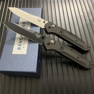 """Benchmade BM940 / BM940S Osborne Katlama Bıçak 3.4"""" S30V Siyah / Saten Düz Blade Karbon Ooudoor BM535 bıçak Kolları pirinç"""