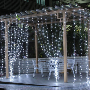 Led String Lights 3*3M 304 LEDs Window Curtain String Light Wedding Party Home Garden Bedroom Outdoor Indoor Wall Decorations 1