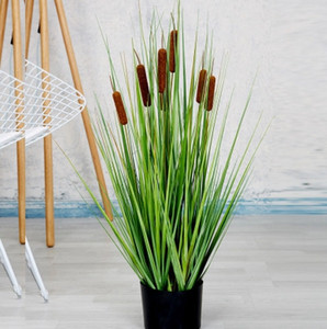 Simulation Plant Reed Grass Bonsai Home Interior Nordic Simple Decoration Green Plant Potted Ornaments EEA1956