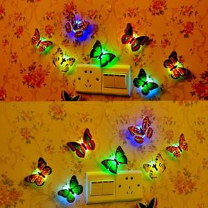 Cgjxscolorful Alterar borboleta Led Night Light Lamp Início Party Room Desk Wall Decor Llwa199