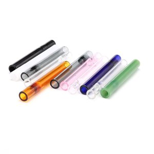 Tütün kuru ot yağ brulor elle boru serbest SH için colroful kalın pyrex 4inç bir Hitter Bat Sigara Tutucu Cam Steamroller Boru filtreler