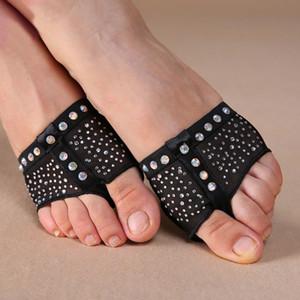 Frauen Bauchtanz Pfoten, Diamant Halb Lyrical Schuhe, Fußsack, toe Undies S / M / L / XL 2color
