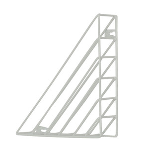 Triangle Hanging Book Shelf Wall Mounted Storage Iron Structure Study Practical